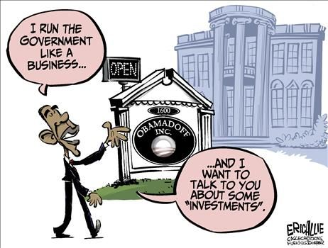 obama investment package - cartoon