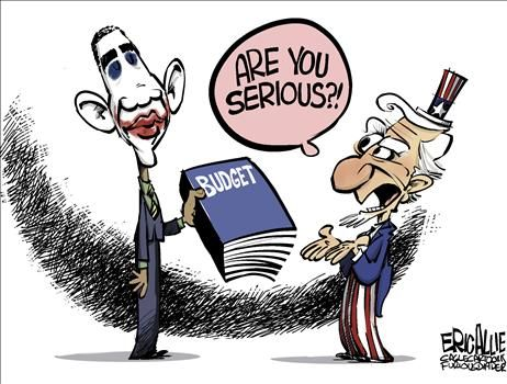 Joker Obama Budget - cartoon
