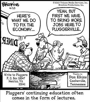 Political and Editorial Cartoons for  Pluggers