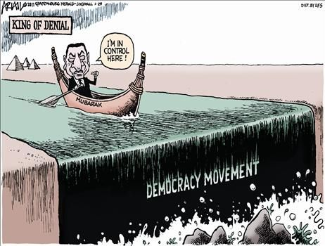 Egyptian Democracy Movement - cartoon