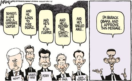 Obama and GOP vs Romney