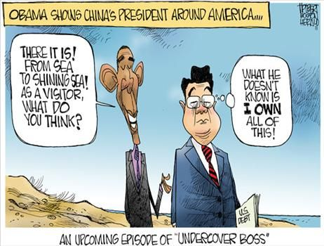 Obama China - cartoon