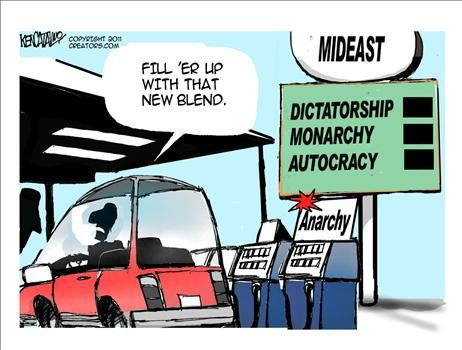 Mideast Anarchy - cartoon
