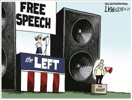 One Sided Free Speech