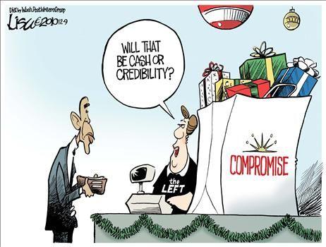 Obama Tax Compromise - cartoon