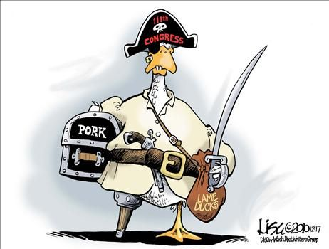 Lame Duck - cartoon