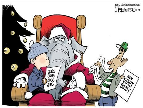 GOP Santa - cartoon