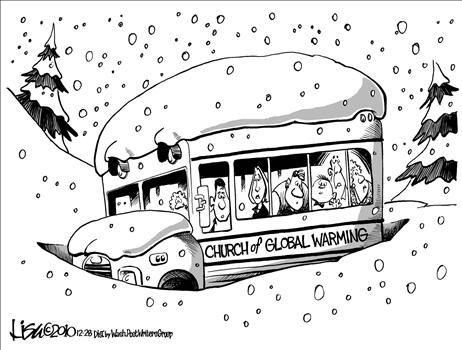 Global Warming Church - cartoon