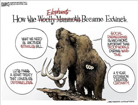 GOP extinct - cartoon