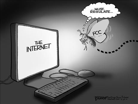 fcc internet regulation - cartoon