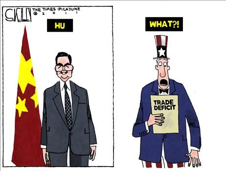 China Trade Bill - cartoon