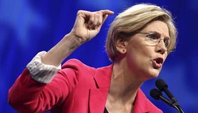 FILE - In this June 2, 2012 file photo, Massachusetts Democratic Senate candidate Elizabeth Warren speaks in Springfield, Mass. Liberals have groused about President Barack Obama since