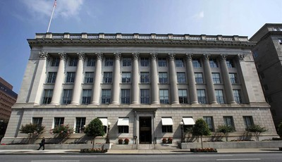 FILE - In an Aug. 4, 2009, file photo the United States Chamber of Commerce building is seen in Washington. In February 2012, the Chamber, which represents 3 million businesses and orga