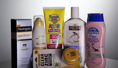 FILE - In this May 26, 2010 file photo, various sunscreen products are seen in Washington.  When the Obama administration agreed to set the first-ever federal limits on runoff in Florid