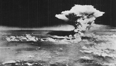 FILE - In this Aug. 6, 1945 file photo released by the U.S. Army, a mushroom cloud billows about one hour after an atomic bomb was detonated above Hiroshima, western Japan. Hiroshima wi