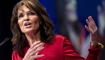 FILE - In this Feb. 11, 2012 file photo, Sarah Palin, the GOP candidate for vice-president in 2008, and former Alaska governor speaks in Washington. Palin on Sunday, Aug. 12, 2012 said