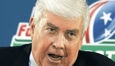 FILE - In this Aug. 25, 2006 file photo, Jack Kemp speaks Jackson, Miss. The list of Paul Ryan