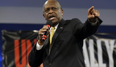 Former Republican presidential hopeful, businessman Herman Cain speaks during a Unity Rally Sunday Aug. 26, 2012, in Tampa, Fla. (AP Photo/Chris O
