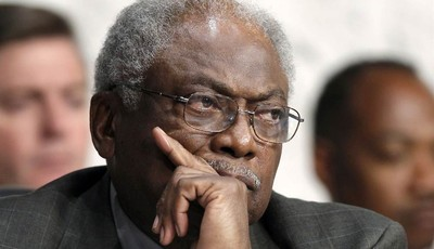 FILE - In this Sept. 13, 2012 file photo, House Assistant Minority Leader James Clyburn of S.C. listens on Capitol Hill in Washington. For decades, Southerners put a firm imprint on nat