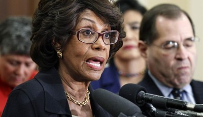 FILE - In this Feb. 8, 2011 file photo, U.S. Rep. Maxine Waters, D-Calif., speaks during news conference on a Woman
