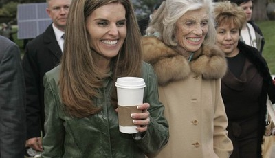 FILE -- In this Jan. 4, 2007 file photo, Maria Shriver, left, wife of California Gov. Arnold Schwarzenegger, her mother, Eunice Kennedy Shriver, center and family housekeeper Mildred Ba