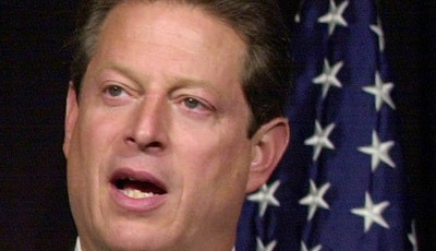 FILE -In this Nov. 8, 2000 file photo, then-Democratic presidential candidate, Vice President Al Gore speaks in Nashville, Tenn., on the current status of the presidential vote recount