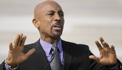 CORRECTS SPELLING TO MONTEL - Television personality Montel Williams speaks to supporters of a ballot measure that would legalize medical marijuana in the state at the Arkansas state Ca