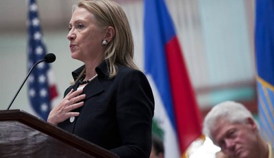 Secretary of State Hillary Rodham Clinton speaks at the opening ceremony of the Caracol Industrial Park, in Caracol, Haiti, Monday, Oct. 22, 2012.  The Haitian government is hosting the