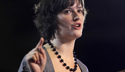 FILE - This Aug. 8,2012 file photo shows Georgetown University law student student Sandra Fluke introducing President Barack Obama at a campaign event in Denver. Dozens of celebrities,