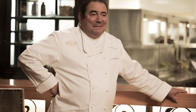 "This image released by Bravo shows celebrity chef Emeril Lagasse during a casting episode of ""Top Chef Seattle,"" in Las Vegas. The new season premieres Nov. 7, on Bravo. Lagasse says mo"