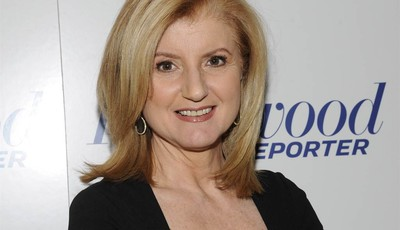 FILE - In this April 11, 2012 file photograph released by Hollywood Reporter Arianna Huffington at The Hollywood Reporter 35 Most Powerful People in Media event in New York. Oprah Winfr