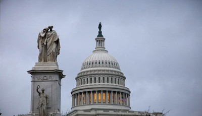 This Tuesday, Nov. 13, 2012, photo shows the Capital building in Washington. The federal government started the 2013 budget year with a $120 billion deficit, an indication that the U.S.