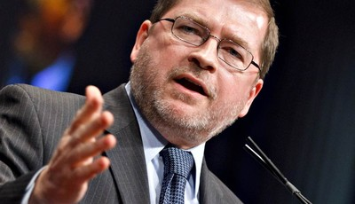 FILE -- In this Feb. 11, 2012 fie photo, anti-tax activist Grover Norquist, president of Americans for Tax Reform, addresses the Conservative Political Action Conference (CPAC) in Washi