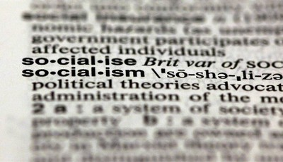 The word socialism, from the 11th edition of Merriam-Webster