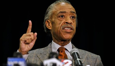 The Rev. Al Sharpton speaks at a news conference to discuss the special missing-person investigations of Terrance Williams and Felipe Santos, Thursday, Jan. 10, 2013 at the Collier Coun