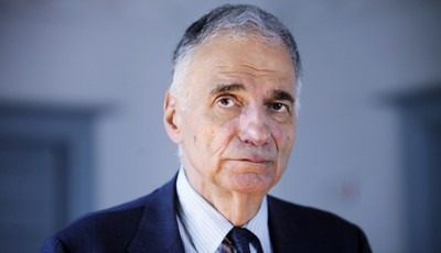 FILE - In this Aug. 20, 2009 file photo, former independent presidential candidate Ralph Nader poses for a photo in Washington. Maine