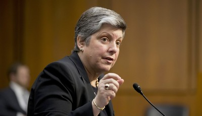 Homeland Security Secretary Janet Napolitano testifies on Capitol Hill in Washington, Tuesday, April 23, 2013, before the Senate Judiciary Committee hearing on immigration reform. (AP P
