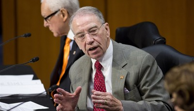 Sen. Chuck Grassley, R-Iowa, ranking member of the Senate Judiciary Committee, defends his amendment to prohibit anyone from obtaining legal status until the Homeland Security Departmen