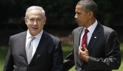 FILE - In this July 6, 2010, file photo, President Barack Obama, right, talks with Israeli Prime Minister Benjamin Netanyahu as they walk to Netanyahu