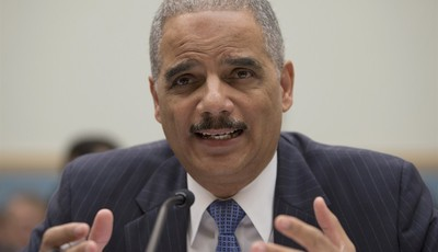 FILE - In this May 15, 2013, file photo, Attorney General Eric Holder gestures while testifying on Capitol Hill in Washington. Four American citizens have been killed in drone strikes s
