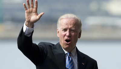 U.S. Vice President Joe Biden waves after giving a speech in Rio de Janeiro, Brazil, Wednesday, May 29, 2013.  Biden is in Brazil on the last leg of a six-day swing through Latin Americ