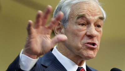 FILE - This Feb. 1, 2012 file photo shows then-Republican presidential candidate, Rep. Ron Paul, R-Texas speaking in Las Vegas. Ron Paul is exiting the political stage but his legions o
