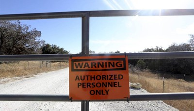 In a Nov. 26, 2012 photo, a road leads to a natural gas well near Weatherford, Texas. The U.S. Environmental Protection Agency had evidence the gas company