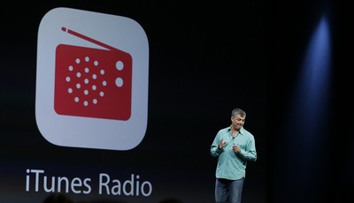 Eddy Cue the Apple senior vice president of Internet Software and Services introduces the new iTunes Radio during the keynote address of the Apple Worldwide Developers Conference Monday