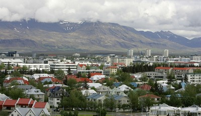 FILE - In this Saturday, May 31, 2008 file photo, a view across Reykjavík in Iceland from Öskjuhlíd Hill. In recent years the country has welcomed eccentric chess master Bobby Fischer,