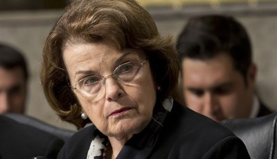 FILE - In this June 12, 2013 file photo, Senate Appropriations Committee member, Sen. Dianne Feinstein, D-Calif., the chair of the Senate Intelligence Committee listen to testimony on C