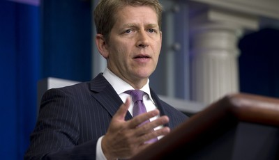 White House press secretary Jay Carney gestures as he speaks during the daily briefing at the White House in Washington, Tuesday, July 16, 2013. The filibuster fight in the Senate, Nati