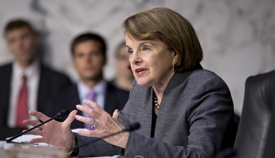 Senate Intelligence Committee Chair Sen. Dianne Feinstein, D-Calif., asks questions about the fate of prisoners at the Guantanamo Detention Center during a hearing by the Senate Judicia