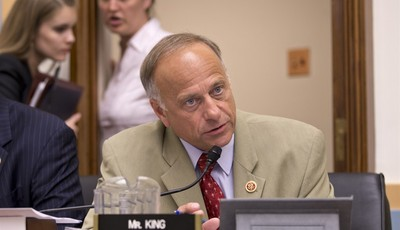 Rep. Steve King, R-Iowa, speaks during a House Judiciary Committee meeting on Capitol Hill in Washington, Wednesday, July 24, 2013. The White House on Wednesday condemned the Republican