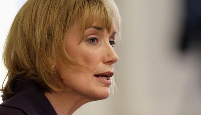 FILE - In this Feb. 14, 2013 file photo, New Hampshire Gov. Maggie Hassan speaks in Concord, N.H. Vice President Joe Biden plans to raise campaign cash for the Democratic leader of the